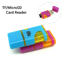 in stock mini USB 2.0 Micro SD memory Card reader TF card Adapter luxurious Diamond shaped