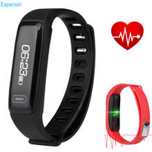 Espanson M2 Smart Bracelet Wristband band Sport Fitness Tracker Bluetooth Bracelet Smartband Heart rate Monitor For IOS Xiaomi