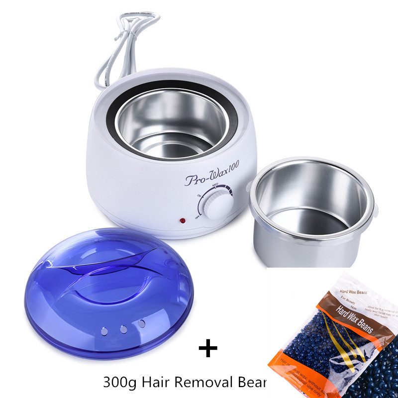 500ML Heater +300g Hair Removal Bean Wiping Sticks Wax Warmer Heater Pot Depilatory Machine Depilation Hair Removal Beauty Set<br>