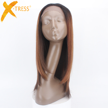 "Cheap 180 Density Silky Straight Synthetic Lace Front Wig with Baby Hair 1.5*13.5inches Front Lace 26"" Long Wigs For Black Women"