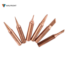 6pcs Soldering Tip Set For Solding Iron 900M-T Copper Iron Tips Lead-free Low Temperature Soldering Station Tool(China)
