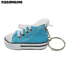 XIAOJINGLING High Quality 3D Mini Doll Shoe Key Ring Cellphone Straps Bag Keychain New Design Blue Charm Cute Accessory Jewelry