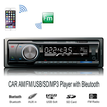 New Arrival 12V Car Audio Stereo FM&AM Bluetooth V2.0 USB SD Mp3 Player AUX Mic Hands-free(China)
