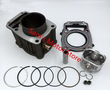 Water Cooled Cooling 72MM 300CM3 YX CG 300 Motorcycle Cylinder Kits With Piston And 18MM Pin