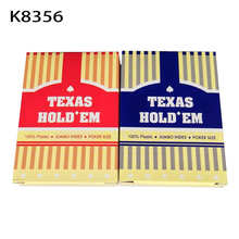 2 Sets/Lot Classic porker card set Texas poker cards Plastic playing cards Waterproof pokerstars zakka Board games 63*88mm