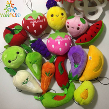 New choose one super fruits banana strawberry cherry apple orange pears stuffed plush doll toy 10pcs/lot