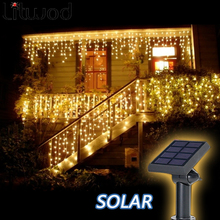 Litwod z30 Solar Lamps Outdoor lighting 50 Beads 7 Meters String LED Starry Light Rope patio Decor Fairy Icicle Lighting(China)