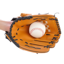 "Brown PVC leather Baseball Glove 10.5""/11.5""/12.5""  Team Sports Left Hand Baseball Practice Equipment"