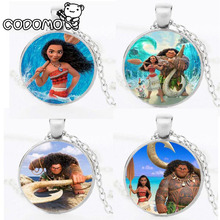 Action Figures Moana Necklace the Oar Pendant Anime Pendant Necklace Collection Pendant Moana Maui Maui Pua Moana Figures Toys