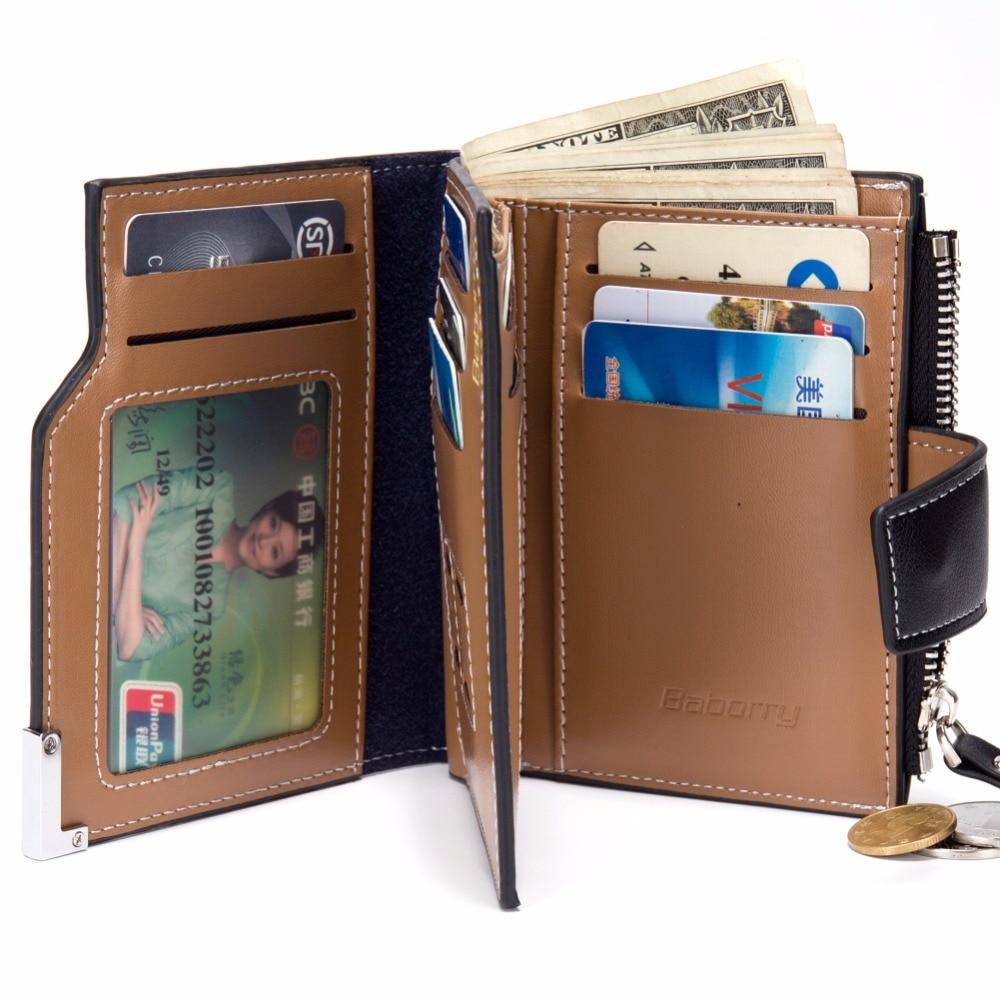 Men Wallet Coin Bag zipper ID Credit Card Holder Bifold Coin Purse Top Brand Wallet Pockets Promotion Gift