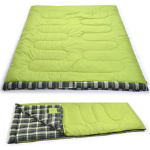 Winter cotton outdoor camping double adult sleeping bag  Envelope type for Camping Hiking 2 person Flannel warm