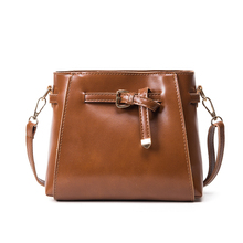 2017 Fashion Casual all-match Solid Women Shoulder Bag Vintage Bucket Bag Simple Crossbody bag Messenger Handbag Small Pouch QH3