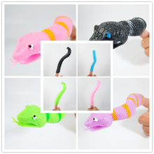 1 piece Story finger puppet toy kids baby toys Novel Octopus tentacles and snake model fingers puppets children's toys gifts