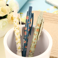 New school Cute Cartoon Ball Pens kawaii korean stationery vintage flower ballpoint pen Gifts Free shipping TOMTOSH