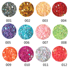 12 Boxes/Set Milk Color Star Nail Glitter Sequins Colorful Shining 3D Nail Art Decorations DIY Nail Accessories