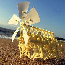 Free Shipping Puzzle Walking Hot Sale DIY Strandbeest Assembly Powerful Model Wind Powered Walker Kits Robot Toys Children Gifts