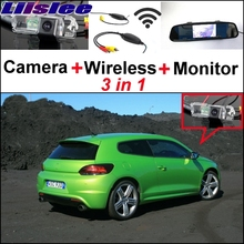 Liislee Special Rear View Camera + Wireless Receiver + Mirror Monitor Easy Back Up Parking System For Volkswagen VW Scirocco(China)