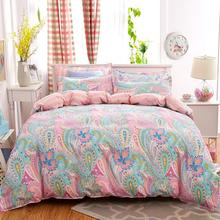 Bohemia boho Green Spirit 4PCS Bedding set Duvet cover flat sheet and 2 pillow cases bedclothes bed linen