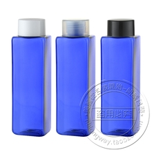 Free Shipping Cosmetic Bottle Manufacturer, Blue Shampoo Bottle 250ML