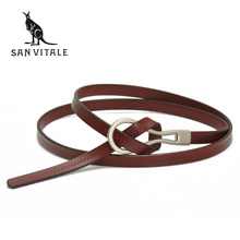 2017 New Designer Ladies Belts Women's Strap Cow Genuine Leather Casual Female Waistband for Skirts Dress students pure color