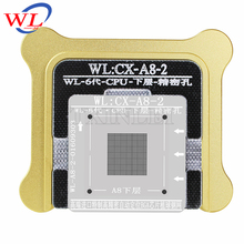 WL Best for iPhone 6 6s 6sp Plus CPU NDND A7 A8 A9 A10 Processor BGA Reball Tin Net Stencil Great Repairing Tool base