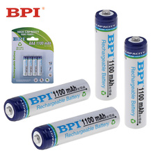 4pcs! BPI 1.2V 1100mAh AAA NiMh Battery LSD Ni-Mh Rechargeable Support 1C Discharge Current Toys Camera Headlamp - EStars Store store
