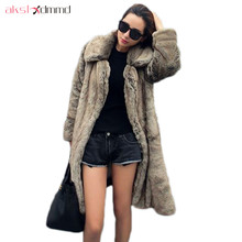 AKSLXDMMD 2017 New Fashion XS-6XL Thick Long Fur Coat Plus Size Women's Fur Jacket Winter Overcoat Faux Fur Outerwear LH1098(China)