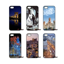Madrid Spain buildings city For iPod Touch iPhone 4 4S 5 5S 5C SE 6 6S 7 Plus Samung Galaxy A3 A5 J3 J5 J7 2016 2017 Case Cover(China)