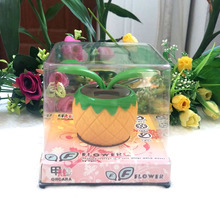 4 Prices Per Lot Leaves Swing Under Full Light No Battery No Water Novelty Flip Flap Pineapple Style Solar Flower Style Dolls(China)