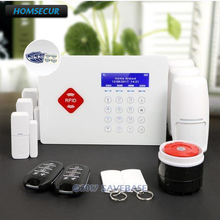 HOMSECUR App Controlled Wireless GSM LCD RFID Alarm System with IOS/Android APP(China)