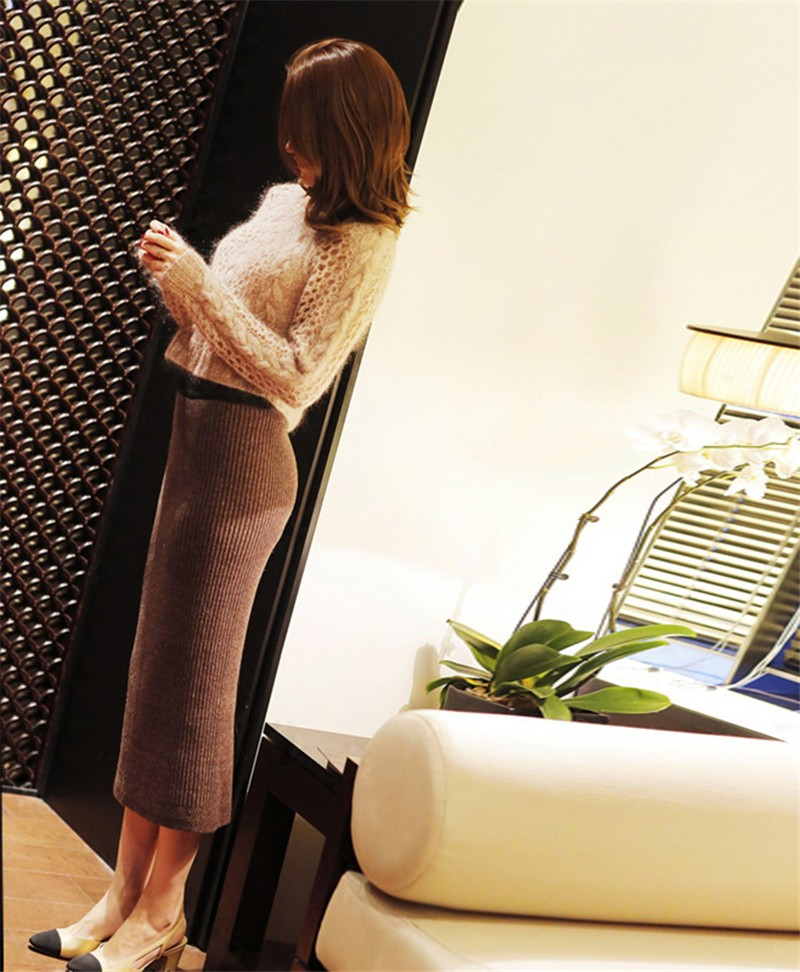 Fashion Sweater And Skirt Two Piece Set Women 17 Sexy Slim Fit Knitted Suit Twinset Clothing Hot Sale 3