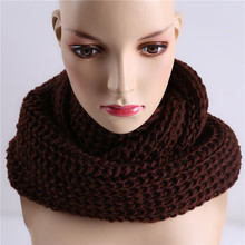Winter Women Infinity Scarf Casual Warm Knitting Soft Ring Scarves Round Neck Snood Scarf Shawl for Lady Girls NQ985074(China)