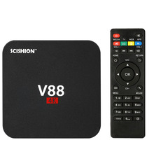 V88 Smart Android 6.0 TV Box RK3229 Quad Core KODI 16.1 XBMC UHD 4K 1G / 8G Mini PC WiFi H.265 HD Media Player