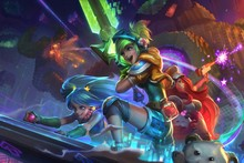 lol game fan art sona maven of the strings magic sword riven  AT088 Living Room home wall modern art decor diy frame poster