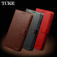 TUKE For Oukitel C8 Case Luxury Wallet PU Leather Case Funda For Oukitel C 8 Flip Silicone Cell Phone Shell Back Cover Conque(China)