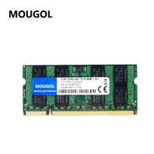MOUGOL New Sealed SODIMM DDR2 667Mhz 2GB PC2-5300 memory for Laptop RAM,good quality!compatible with all motherboard!