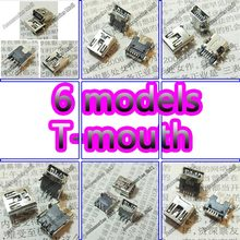 6 Models set Widely Using Micro Mini USB Connectors Plug jack for MP3, MP4, Phone, Tablet, Netbook 5PIN  T-type