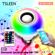 +Cheap+ E27 Bluetooth Speaker+Lamp Smart Connection Music Player LED Light RGB Bulb + E27 LED Lights  Socket # TSLEEN