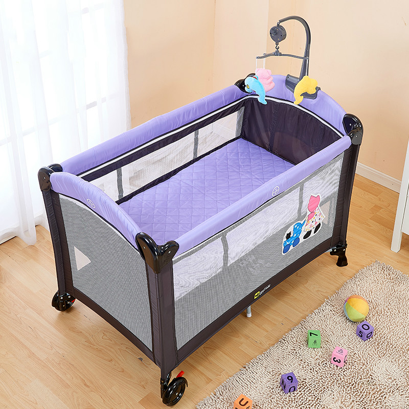 Multifunctional Folding Baby Bed European Style Portable Playpen Crib Alloy Large Game 0 6 Years Old C01 In Cribs From Mother