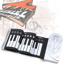 Portable 49 Keys Flexible Roll Up Piano Electronic Soft Keyboard Piano Silicone Rubber Keyboard ABS Plastic