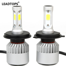LEADTOPS H4 H7 LED Car Headlight Bulb Hi-Lo Beam 72W 8000LM 6500K 9005 H11 880 Auto Headlamp Bulb Car External Lights12v 24v DJ