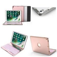 7 Colors Backlit Light Wireless Bluetooth Keyboard Case For iPad Pro 10.5(China)