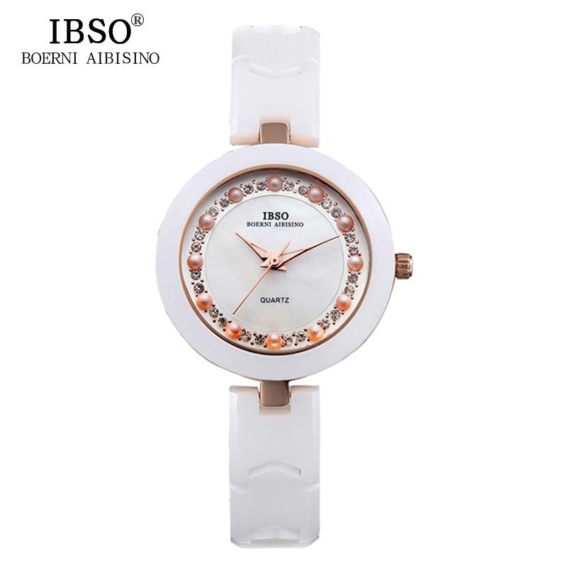 IBSO Brand Luxury Women Watches 2017 High Quality Ceramic Quartz Watch Women Fashion Ladies Watches Waterproof Montre Femme<br><br>Aliexpress