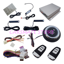 Hopping Code PKE Car Alarm Security System with Remote Start / Push Start / Windows Rising Output / Password Keyboard Carsmate