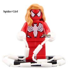 50pcs/lot PG069 Spider-Girl Super Hero Scorpion/Stan Lee Best Kids Education Learning Toys PG8017(China)