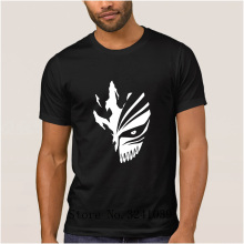 Custom best bleach mask t shirt summer Loose Kurosaki Ichigo t-shirt men large Leisure mens tee shirt Short Sleeve homme(China)