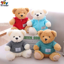 25cm Teddy Bear with Sweater Toy Doll Toys Stuffed Animals Children Kids Baby Kawaii Birthday Gift Home Shop Decoration Triver(China)