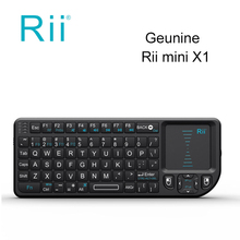 10pcs/DHL wholesale Rii mini X1 Handheld 2.4GHz RF Wireless Keyboard Qwerty With Touchpad Air Mouse For PC Notebook Smart TV Box