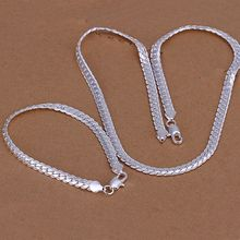 jewelry silver plated jewelry set,  fashion jewelry set 5Mm Flat /dgmalxta coualgba S085