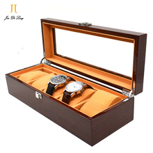 Genuine Solid Wood Rosewood Watch Case High Quality 5 Grids Watch Display Box Perfect Packing Gift Box for Watches